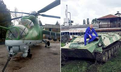 Migrant hunter buys helicopter to round up 'jihadis' - A migrant hunter who has had a bounty put on his head by ISIS has now bought himself a helicopter gunship to help patrol on the look-out for 'potential jihadis'. Dinko Valev, 29, made a name for himself last year after posting internet videos of himself chasing down immigrants who fled into Bulgaria from neighbouring Turkey and war-torn Syria. The former semi-professional wrestler was shown chasing terrified migrants through woodlands along with other armed vigilantes. Dinko Valev (pic