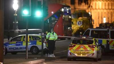 "UK PARLIAMENT ATTACK 5 dead, 40 injured in London 'terror incident' - Five people, including a London police officer who was stabbed and the alleged assailant, were killed in a terror attack that saw more 40 people injured outside the Parliament building on Wednesday in an act described as ""sick and depraved"" by British  Prime Minister Theresa May. Acting Metropolian Police Deputy Commissioner and Head of Counter Terrorism Mark Rowley said there was only one attacker who authorities believe was ""inspired by international terrorism."" Flag at hal"