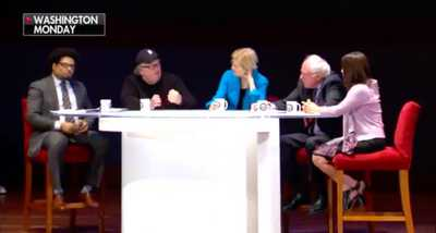 Watch Three Liberal Millionaires Lecture Americans About Income Inequality - On Monday, Sen. Bernie Sanders (I-V.T.), Sen. Elizabeth Warren (D-Mass.), and Hollywood director Michael Moore hosted the Inequality Townhall to discuss how the top one percent of Americans own more than the 99 percent, the decline of the middle class, and the rise of the oligarchy. Over the last forty year, the middle class of this country has declined while oligarchy is on the rise, Sanders said. It's so crazy the rich right now, the greed, the level of greed, Moore said.  - MadSPace 2018 Daily Alternative Conservative Controversial Conspiracy News