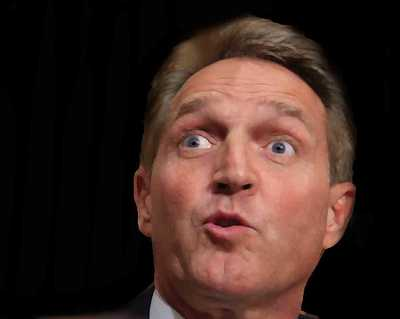 Flake Has Another Temper Tantrum & Won't Vote for Judicial Nominees - The Arizona senator will retaliate. He said he will oppose any of President Trump s judicial nominations until legislation protecting special counsel Robert Mueller gets a vote. He s a nasty piece of work. The fake Republican doesn t care about Americans or the judicial system, just his revenge. I have informed the majority leader I will not vote to advance any of the 21 judicial nominees pending in the Judiciary Committee or vote to confirm the 32 judges awaiting confirmation on